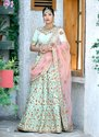 Latest Designer Wedding Wear Silk Lehenga Cholis