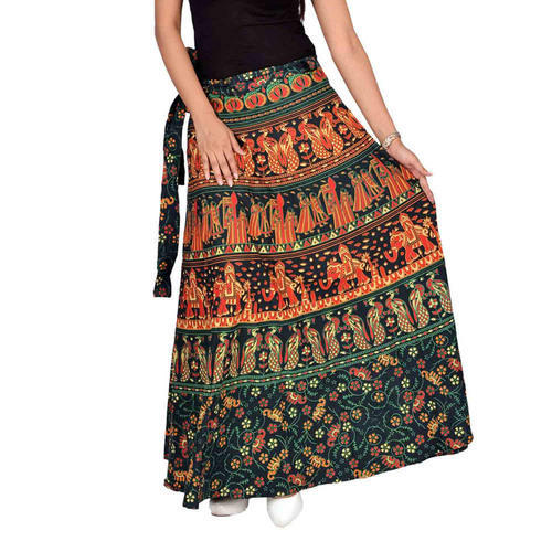 1076b61749 Long Printed Wrap Around Full Skirt, Rs 225 /piece, Shri Mahalaxmi ...