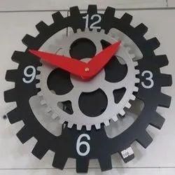Black (Base) Plastic Decorative Wall Clock