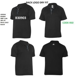 Plain Polyester Adidas Dryfit Back Logo Polo T Shirt, Size: XS TO XXL