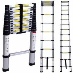 EQUAL Portable and Compact 13-Steps Telescopic Foldable Aluminium Ladder for Household and Outdoor P