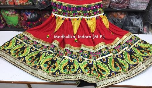Gujrati Garba Dance Lehnega Chunni And Blouse