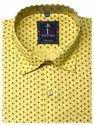 Yellow Printed Cotton Shirt