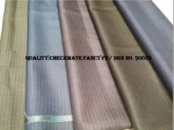 Polyester Viscose Tr Checks Suiting Fabric By Mascot