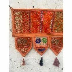 Indian Vintage Hand Embroidered Patchwork Toran Home Decor