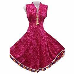 Ladies Cotton Printed Anarkali Kurti, Size: M-5XL