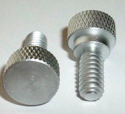Aluminum Silver Color Knurling Screw, Quantity Per Pack: 100 Pcs