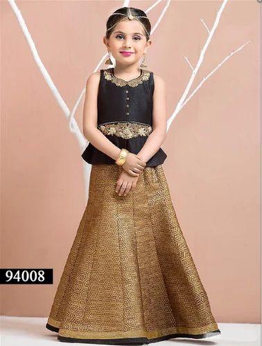 fc334dc5d6 94008 Black And Coco Gold Designer Kids Wear Dress