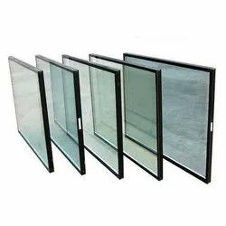 Ridhi Sidhi Transparent Green Stained Frameless Insulated Glass Window