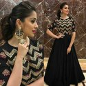 Donkhoria Party Wear Ladies Embroidery Cotton Anarkali Kurtis, Wash Care: Dry Clean