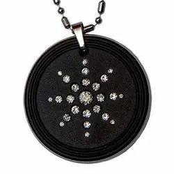 Negative Ions Black Diamond Scalar Energy Pendants