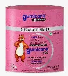 Folic Acid Gummies Strawberry Flavour