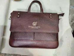 Plain Leather Laptop Bag