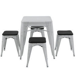 METAL TOLIX CHAIR WITH IRON TABLE