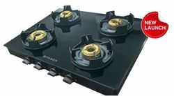BLACK Stainless Steel COOKTOP GLASS, Model Name/Number: Oynx 4 Bb, Size: 77 Cm