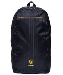Black And Yellow Plain Backpack