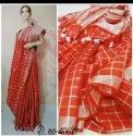 Checks Linen Saree