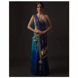 Sourabh Boutique Casual Wear Ladies Designer Bandhani Saree, With blouse piece, 5.5m