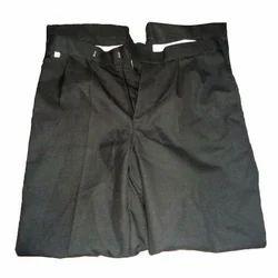 Black Cotton Uniform Trouser