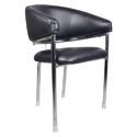 Black Mitad Mid Back Guest Chair