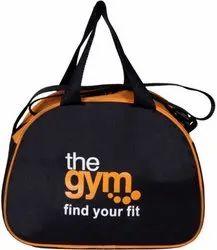 Polyester Black/Orange D Shape Bag, Size/Dimension: 30*20 *20cm