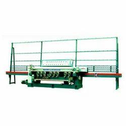 15 kW Straight Line Glass Beveling Machine, Weight: 3000 kg