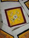 Cotton Canvas Biege Hand Painted Bags, Size: Custom