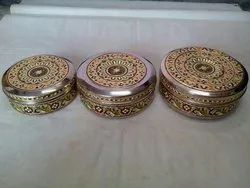 Handicrafted Meenakari Steel Box