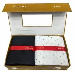Cotton/Linen Formal Arvind Shirt Pant Gift Box Packing Combo