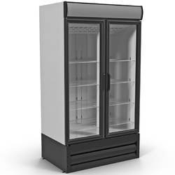 Supermarket Double Door Upright Display Fridge