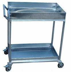 Mild Steel Housekeeping Trolley Utility Trolley