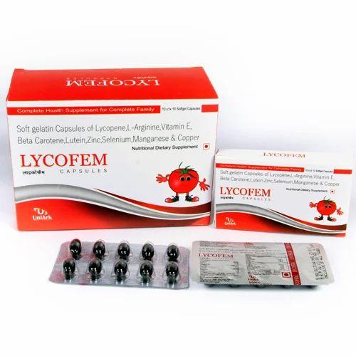Lycopene L-Arginine Betacarotene Lutein Multivitamins Capsule