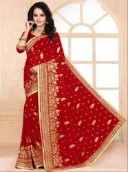 Charismatic Red Bridal Saree