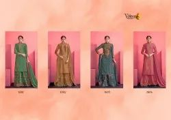 Designer embroidered sarara suits