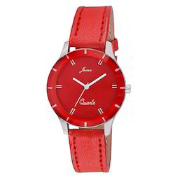 JAINX Funky Red Dial Analog Watch for Women & Girls JW529