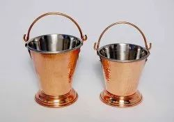Metal Natural Copper Balti For Serving, Size: Standard