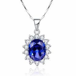 Princess Gemstone 925 Sterling Silver Pendant