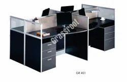 Grassroot Alluminium GR 401 Modular Workstation, Seating Capacity: 4, For Office