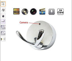 Coat Hook Style Hidden Camera with Built-in DVR 1920x1080