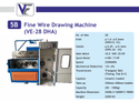 Fine Wire Drawing Machine VE-28DHA