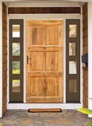 Brown Wood Oak Wooden Door, For Home