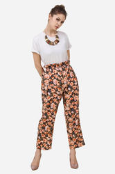 Rayon Women Floral Printed Flared Pants