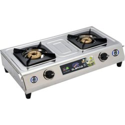 Manual Double Burner Butterfly Stainless Steel Gas Stove