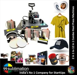 99 Sublimation 4 In 1 Combo Heat Press Machine For School Bags t Shirt