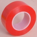 Sticol White And Transparent Red Liner Polyester Tape