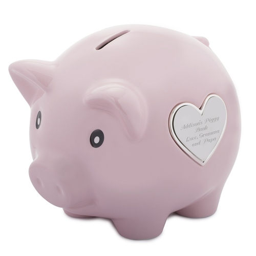 Pink Plastic Piggy Bank For Personal
