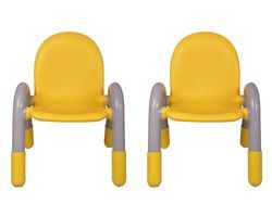 Yellow Pair Plastic Kids Chair (VJ-0221)