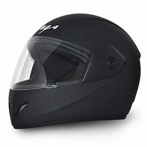 Vega Black Full Face Motor Bike Helmet Siddhivinayak Helmets