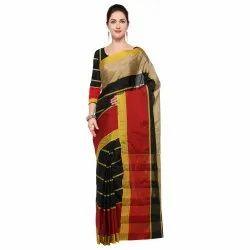 Poly Silk Plain Saree