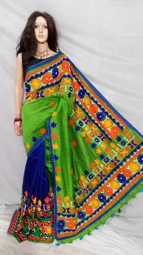 cdfa9be27a3267 Silk Thread Work Green Designer Handloom Saree, Rs 2425 /piece | ID ...